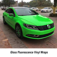 Fluorescence Yellow Green pink Reflective Full Body Car Sticker Foil for Car Wrap Film High quality 5ft X 65ft/Roll