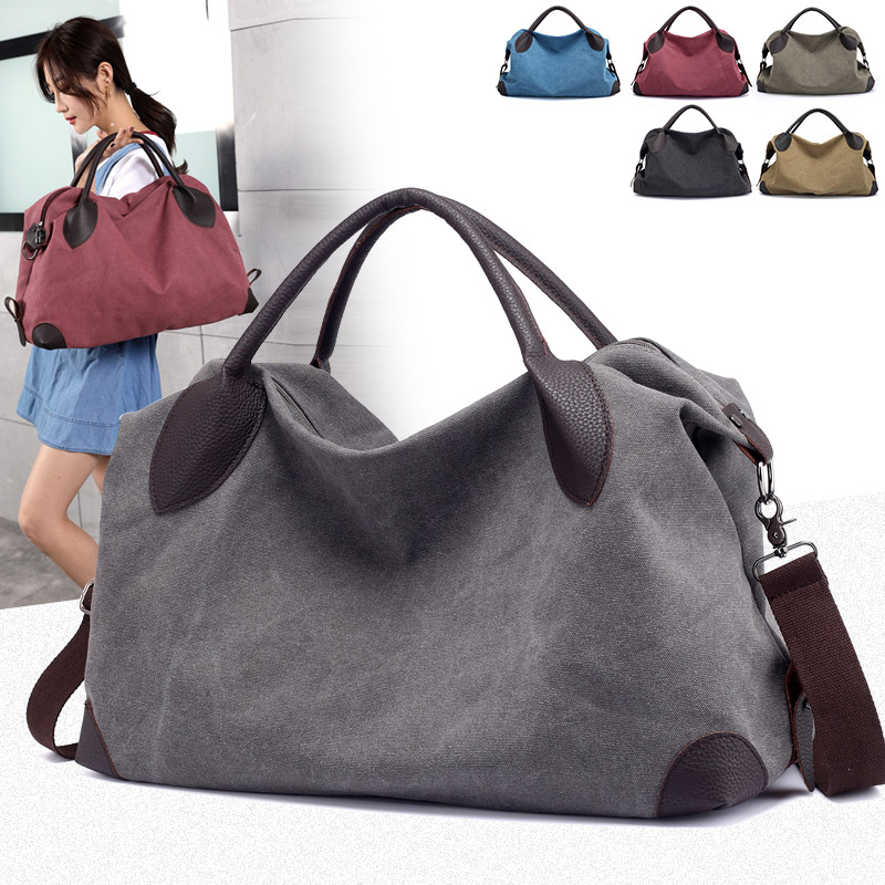 2018 New Women Big Canvas Crossbody Bags Handbags Brand Designer High Quality Casual Portable Totes Bag Ladies Shoulder bag