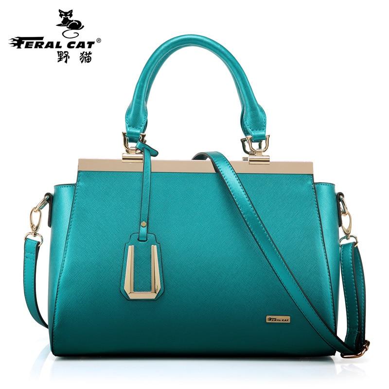 ФОТО FERAL CAT Women Handbags 2017 New Saffiano Tote Bag Solid Green Fashion Large Capacity Brand Shoulder Bags Big Crossbody Bags