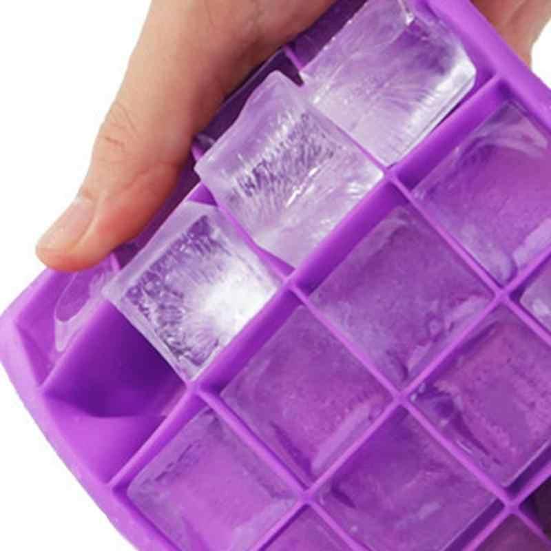 15 griglie Piazza Del Silicone Forma Forma del Cubo di Ghiaccio Della Muffa Del Vassoio di Frutta Popsicle Ice Cream Maker per il Vino Da Cucina Bar a Bere accessori