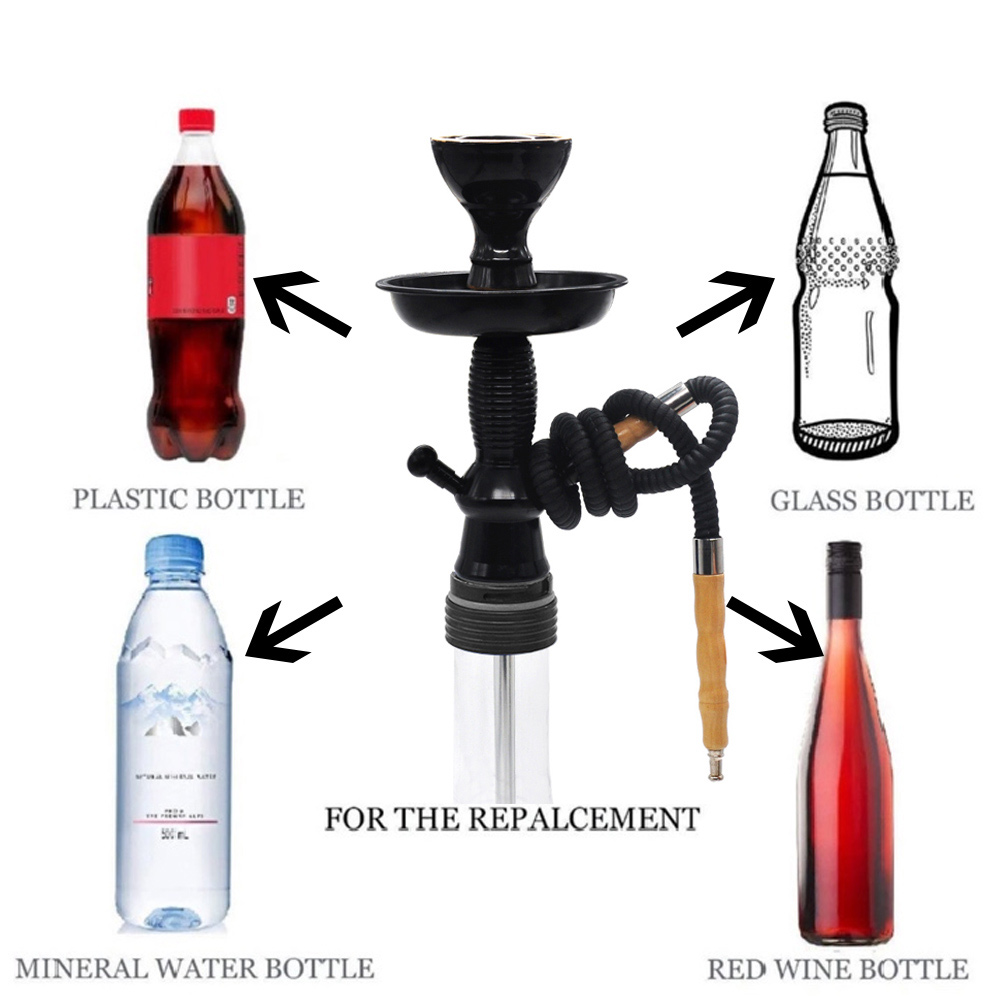 HONEYPUFF New Arrival Wine Bottle Hookah Stem Kit HOOKITUP Aluminum Hookah Shisha Stem Complete Set With Bowl And Hose