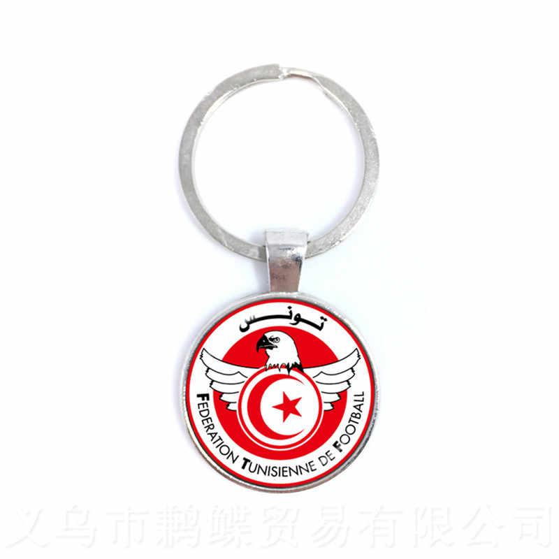 Totem De Time De Futebol Peru, da Croácia, da Tunísia, da Arábia Saudita, os Fãs de Futebol Senegal Pingente Cúpula de Vidro Lembrança Chaveiro
