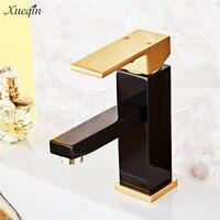 Xueqin Bronze Rose Gold Luxury Single Handle Bathroom Basin Faucet Mixer Water Tap Deck Mounted Basin
