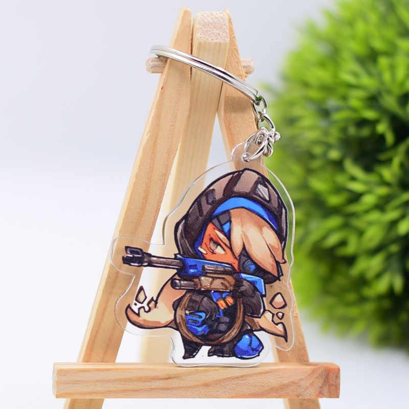 Контрольный брелок прозрачный акриловый брелок для ключей Подвеска Аниме аксессуары брелок с фигурками из мультфильмов