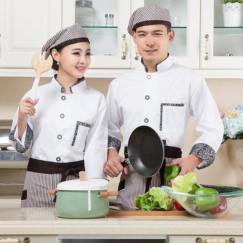 new style 096d3 432b2 US $16.69 40% di SCONTO Servizi di ristorazione Bianco Giacca Cuoco  Ristorante Hotel Cucina Abbigliamento Cuoco Uniforme Vestiti di Stile  Cinese Chef ...