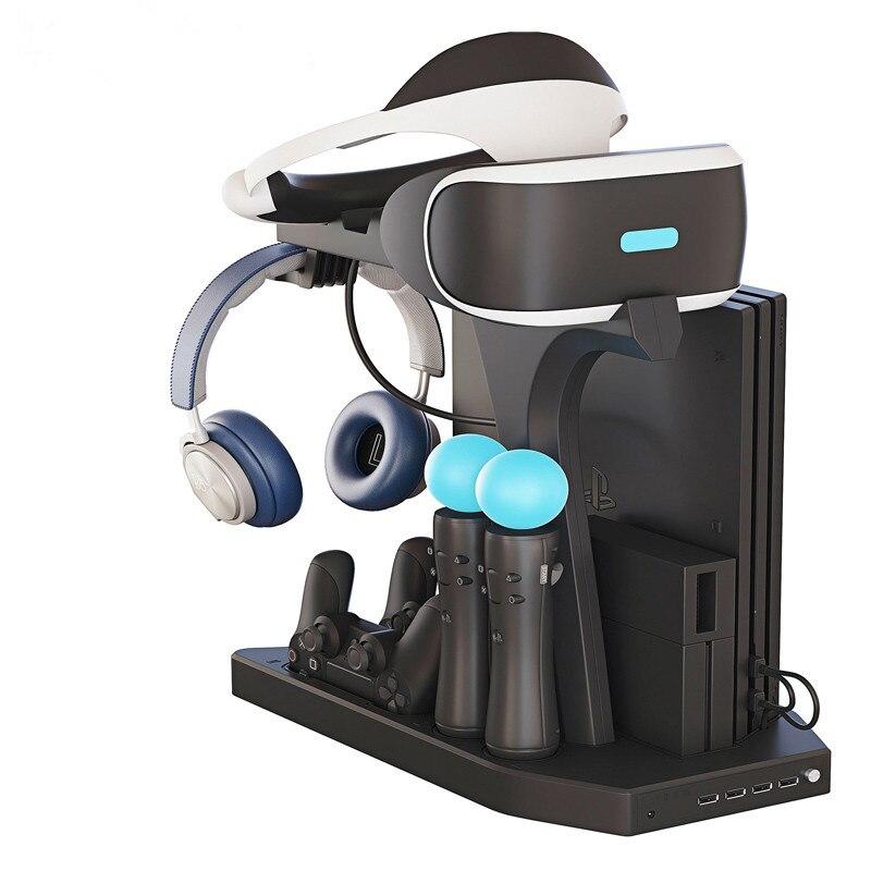 PSVR PS VR chargeant la vitrine de présentoir, Charge, affichage pour le support Vertical de PS4 VR Playstation 4, ventilateur, berceau de chargeur de contrôleur