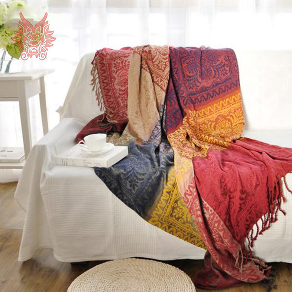 Great 100%Chenille Sofa Cover Sofa Towel Multi Color Yarn Dyed Sofa/chair Blanket