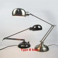 Desk Lamps Study Office Table Light LED Stand Lampara Flexo Abajur Flexible Bed Lights Adjustable Foldable