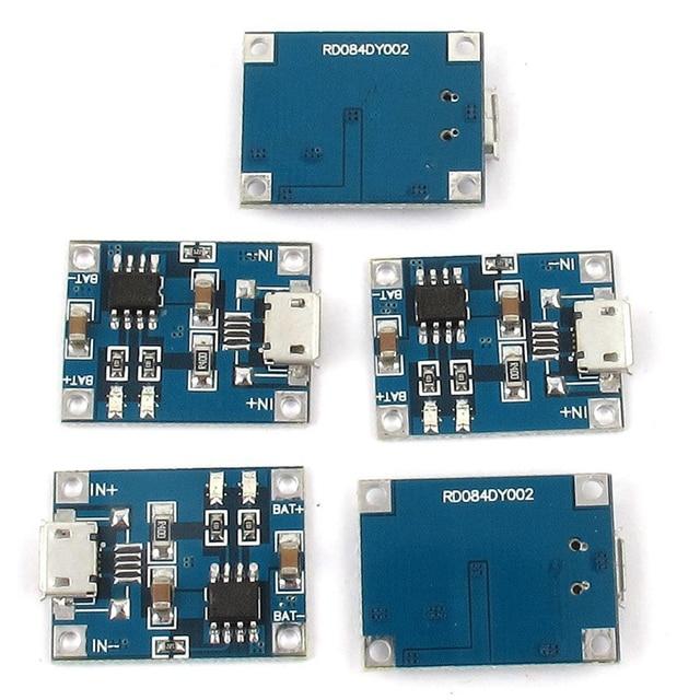 Micro-USB 1A Li-Ion 18650 Batteria Al Litio Caricatore di Ricarica TP4056 Bordo del Modulo