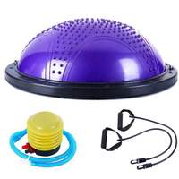 PVC Inflatable Half Yoga Balls hemisphere Balance ball Massage Point Exercises Trainer F