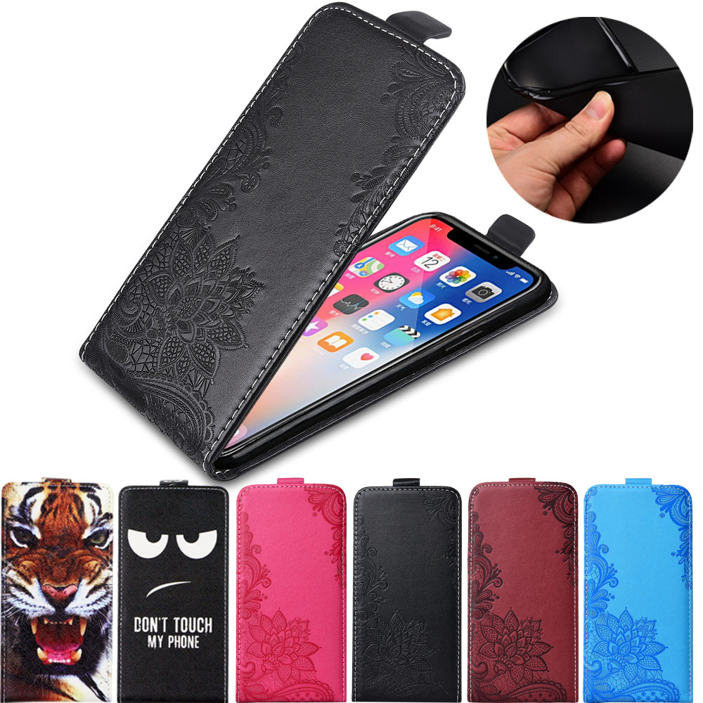 For Huawei Honor 10 10 Lite case TPU Soft back cover flip leather case Vertical Cover image
