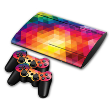 Para playstation 3 skin adesivo pvc para o console ps3 super slim & 2 almofadas demônio tn-p3s4000-0531