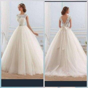 74d63b6c7 Лори А-силуэта свадебное платье 2019 Кружева Тюль vestido de casamento