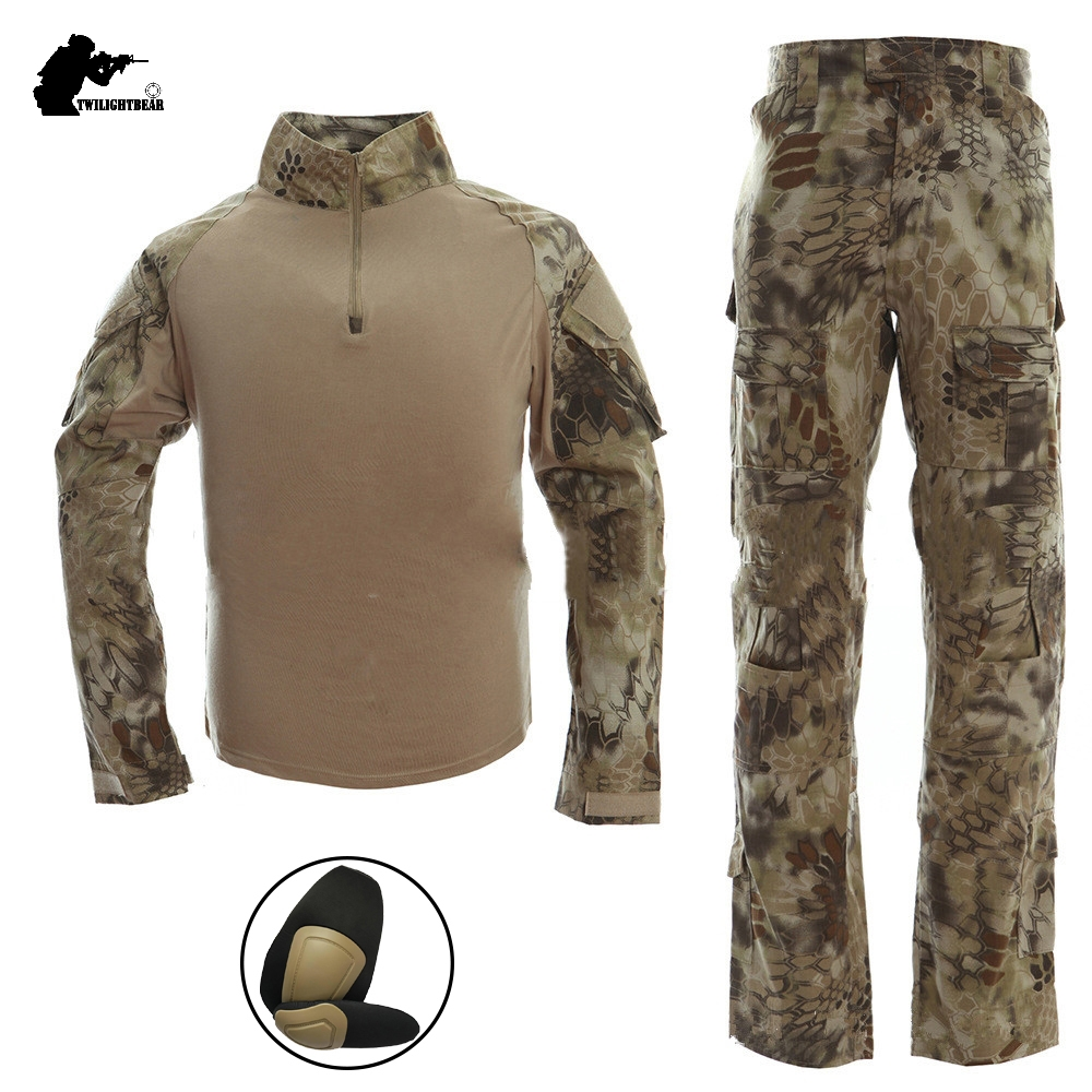 Military Camouflage Frogman Tactical Suits Marines Tactical Frog Clothing Uniforms Men Women With Protective Gear BF049