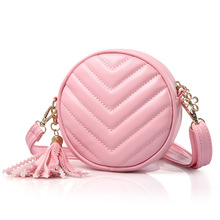 PU leather princess round children bag kids shoulder crossbody pouch purse bag bolso mujer bolsa for kindergarten baby girls