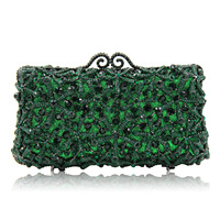 High end Full Rhinestone Evening Bag Luxury Red Green Diamond Clutches Bags For Women pochette soiree mariage sacoche femme