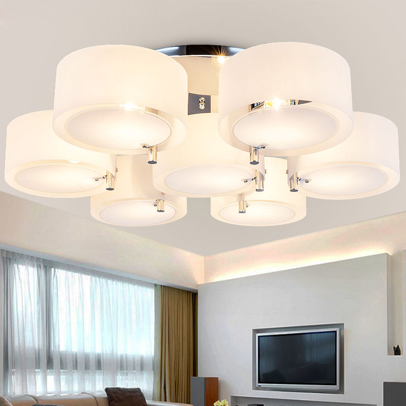 Kitchen Lighting Ceiling Fixtures: Modern LED Ceiling Lamp Acrylic Round Chandelier Kitchen