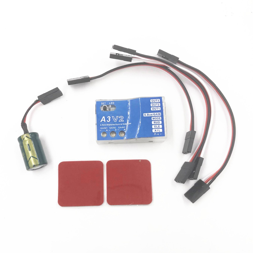 HobbyEagle A3 V2 3 Axis RC Fixed-Wing Airplane Gyro Flight Controller Stabilizer