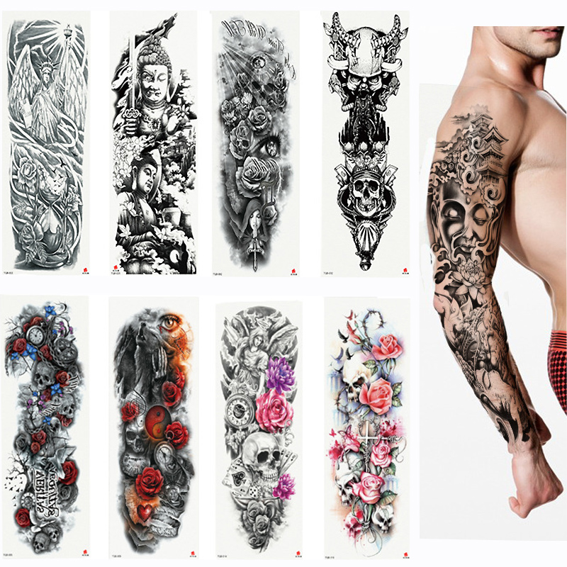 2018 New Full Flower Arm Tattoo Stic