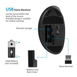 Image 5 - Delux M618SE 2.4G Wireless Mouse Bianco 6 Bottoni Ufficio USB Ottico Ergonomico Verticale Mouse Per Finestre 2000/XP/Vista/7/8/10