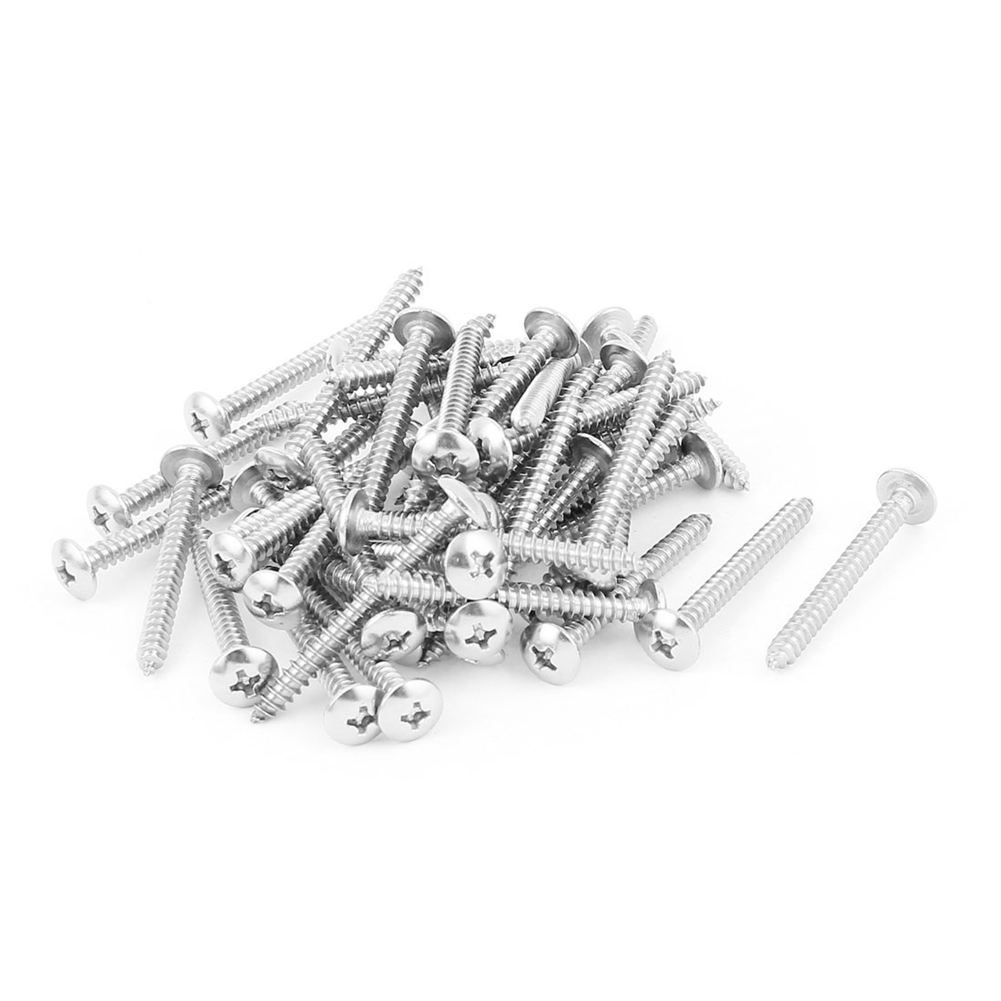 3.9mm x 40mm Phillips Truss Head Self Tapping Screw Fasteners 50 Pcs casual 3d skull printing round collar short sleeve t shirt for men