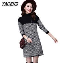 9c450fdddc4da Sıcak lady kazak kazak elbise Kore moda kalın balıkçı yaka yün örme kazak  ince uzun kollu lady kış kazak 3XL