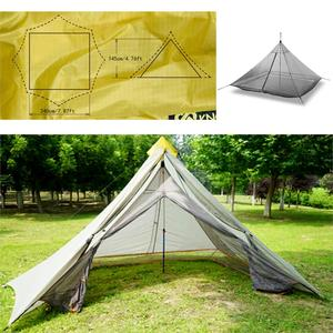 Image 2 - 620g Ultralight Camping Inner Tent 4 Personen 3 Seizoenen 40D Nylon Ademend Mesh Stangloze Achthoekige Piramide Bodemloze Grote Tent