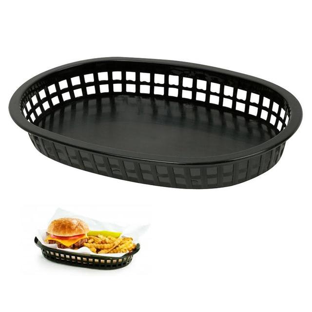 12pcs/lot 10.5u0027u0027 Large Fast Food Platter Basket Red Plastic Dinner Plates Black  sc 1 st  AliExpress.com & 12pcs/lot 10.5u0027u0027 Large Fast Food Platter Basket Red Plastic Dinner ...