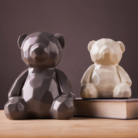 Decorations Decoration Figurine Bear Teddy Bedroom Bedroom Personalized Furnishings Ceramic Crafts Home Trinkets