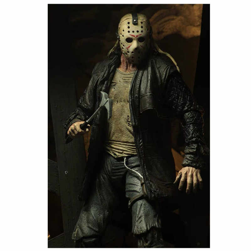 18 cm NECA Friday The 13th JASON VOORHEES 2009 Deluxe Edition JASON PVC Action Figure Collectible Model Toys