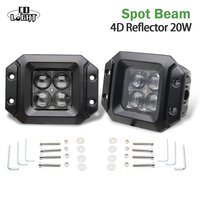 CO LIGHT 2PCS 3 LED CAR FRONT LIGHTS 20W SPOT FLOOD BEAM 6500K 12V DAYTIME RUNNING