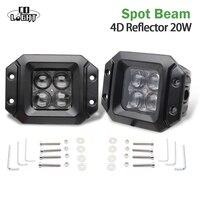 CO LIGHT 2PCS 3 LED CAR FRONT LIGHTS 20W SPOT FLOOD BEAM 6500K 12V DAYTIME RUNNING