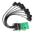 8 Port Serial RS232 PCI-E X1 Controller Card with Fan-out Cable XR17V358 Chipset