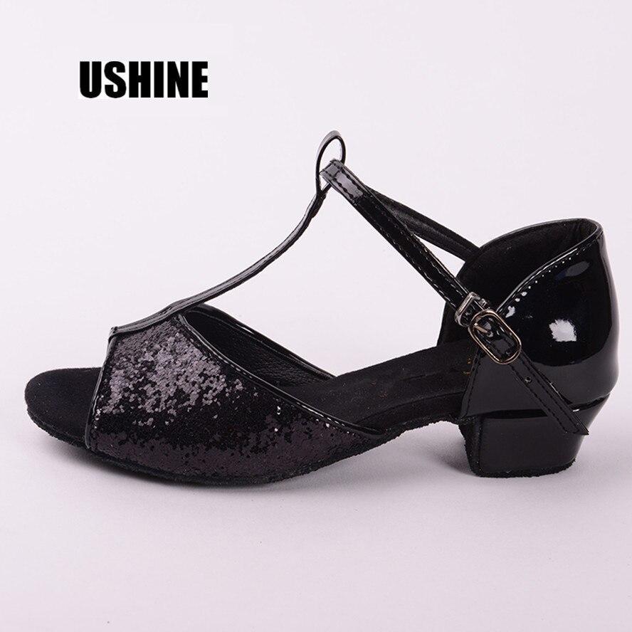 205 PU Rouge Or Argent Noir Salsa Danse Chaussures Zapatos De Baile Latino Mujer Latine Chaussures De Danse Pour Femmes Filles