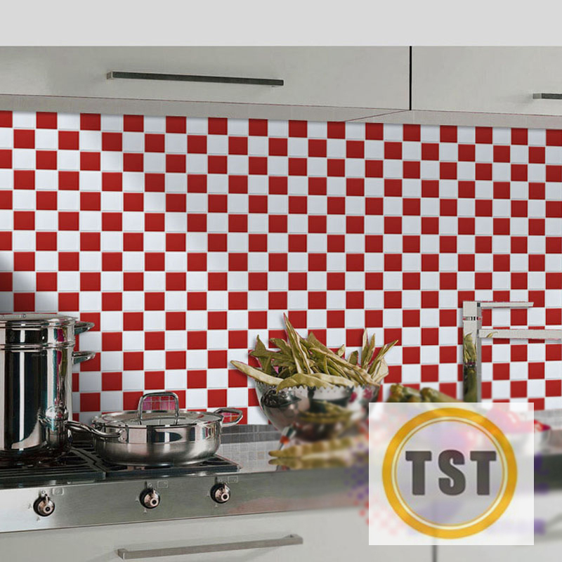 Ceramic Tiles Mosaic White Red Kitchen