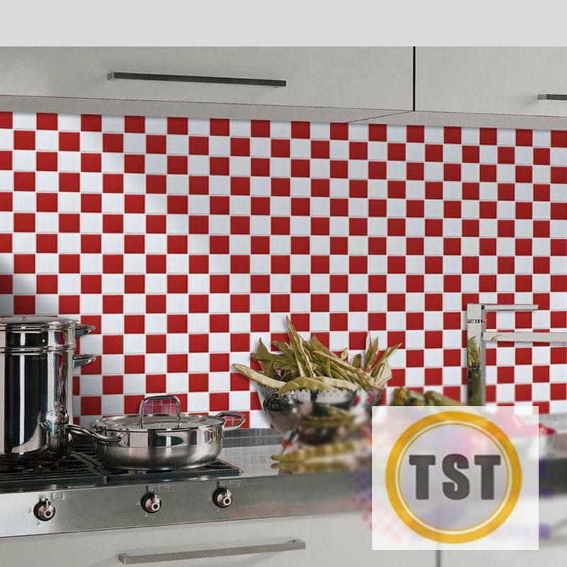 Ceramic Tiles Mosaic White Red Kitchen Backsplash 2x2 Porcelain Tile