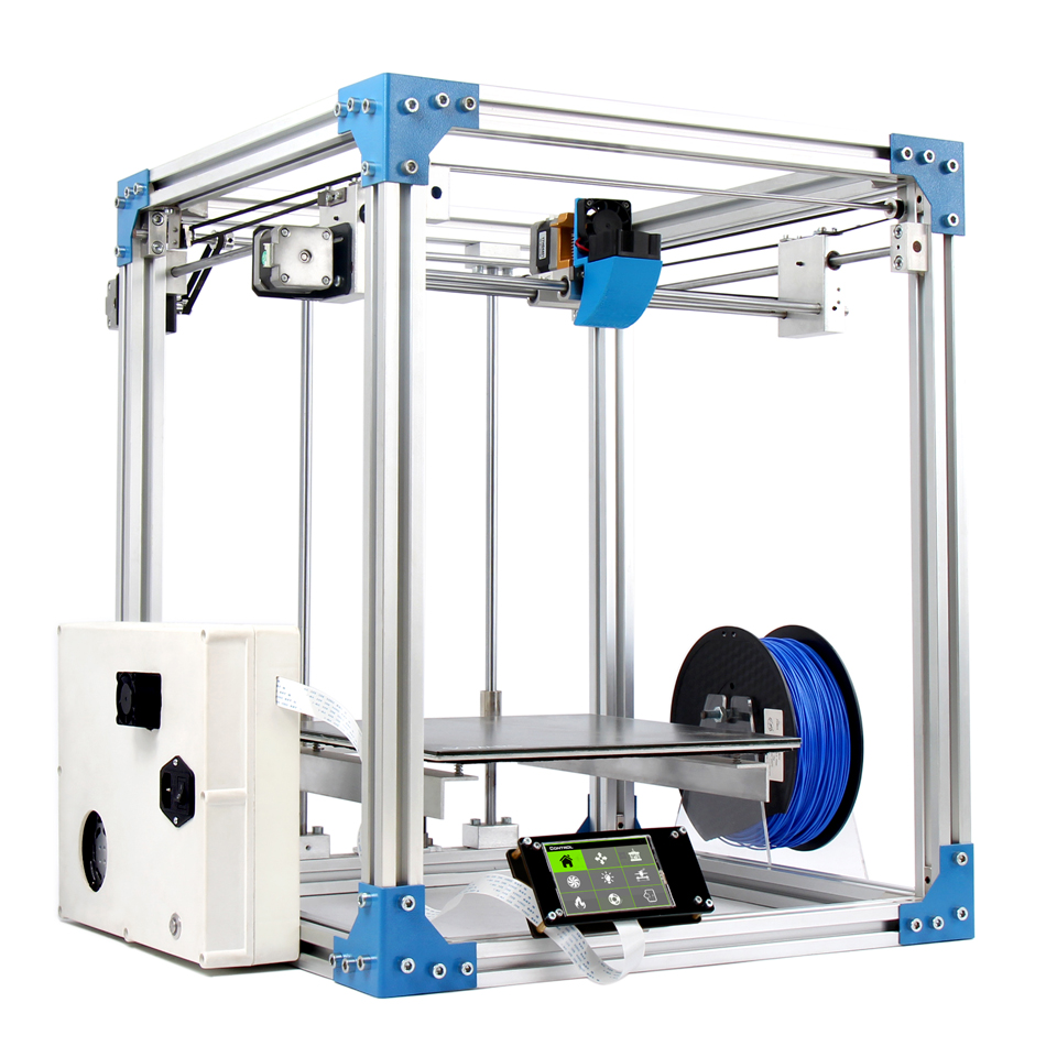 Large Print size S7 3D Printer 2017 Newest 280x280x300mm All Metal Structure with big hotbed Auto leveling 1set gift flsun 3d printer big pulley kossel 3d printer with one roll filament sd card fast shipping