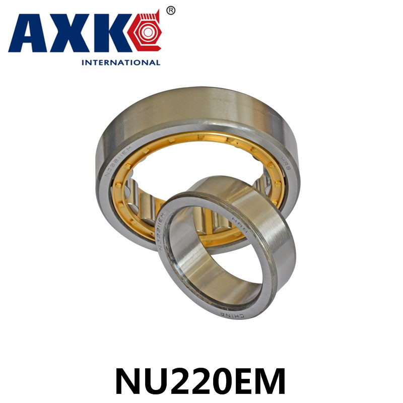 Axk Bearing Nu220em Cylindrical Roller Bearing 100*180*34mm na4910 heavy duty needle roller bearing entity needle bearing with inner ring 4524910 size 50 72 22