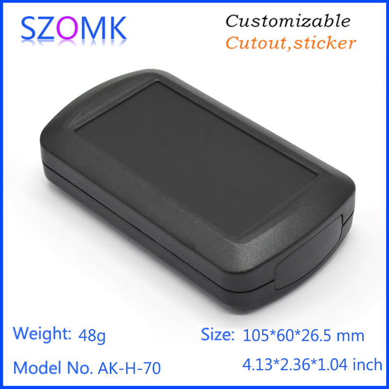цена на 1 piece, 105*60*26.5mm high quality abs plastic pcb enclosure electronics box GPS tracker plastic housing szomk instrument box