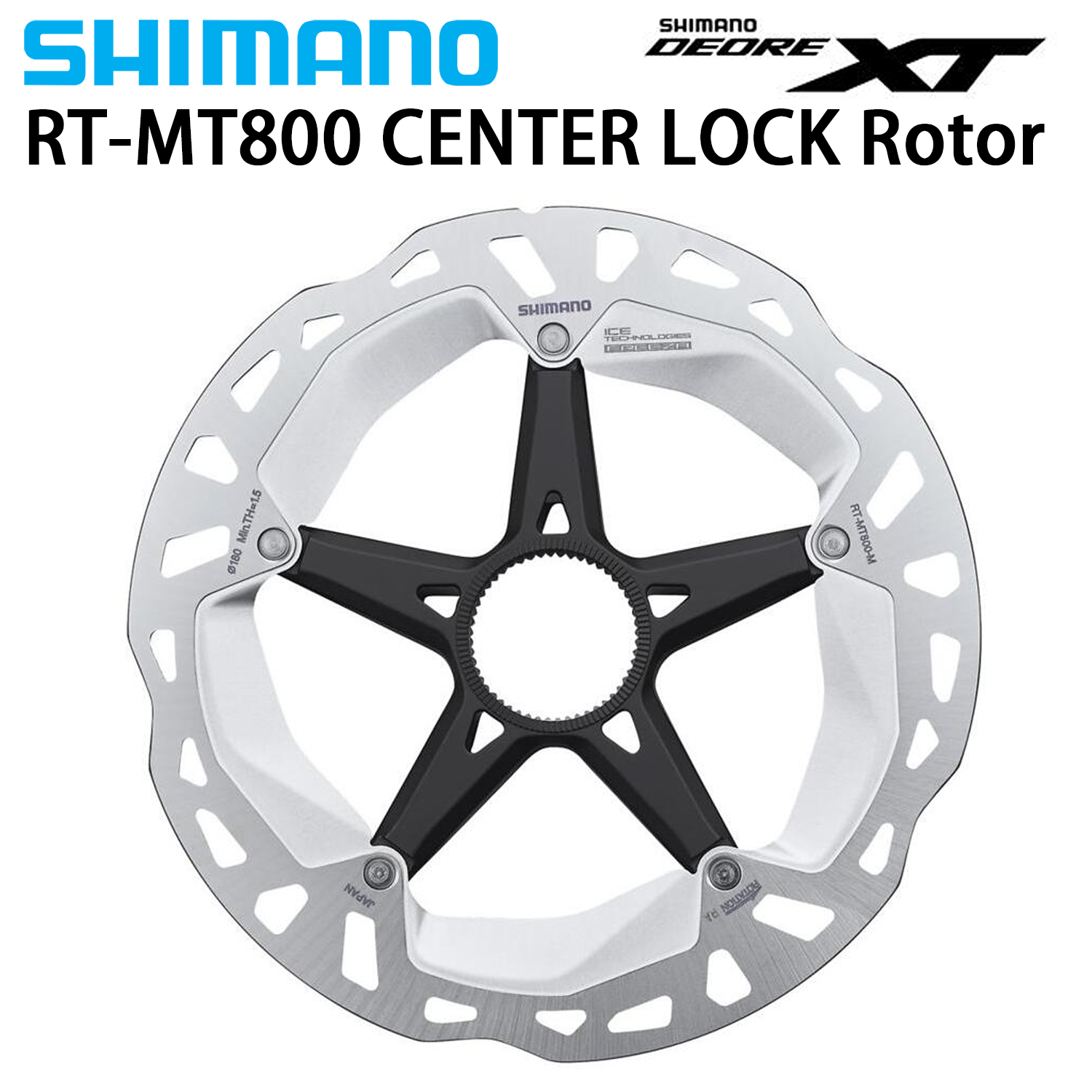 Shimano XT RT MT800 Centerlock Disc Rotor with External Lockring Disc Rotor RT81 Disc 160MM 180MM