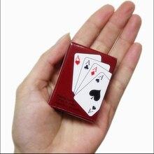 MrY игра в покер кард спортивный мини маленький покер интересные игральные карты настольная игра снаружи открытый или Путешествия Мини Размер Pokers
