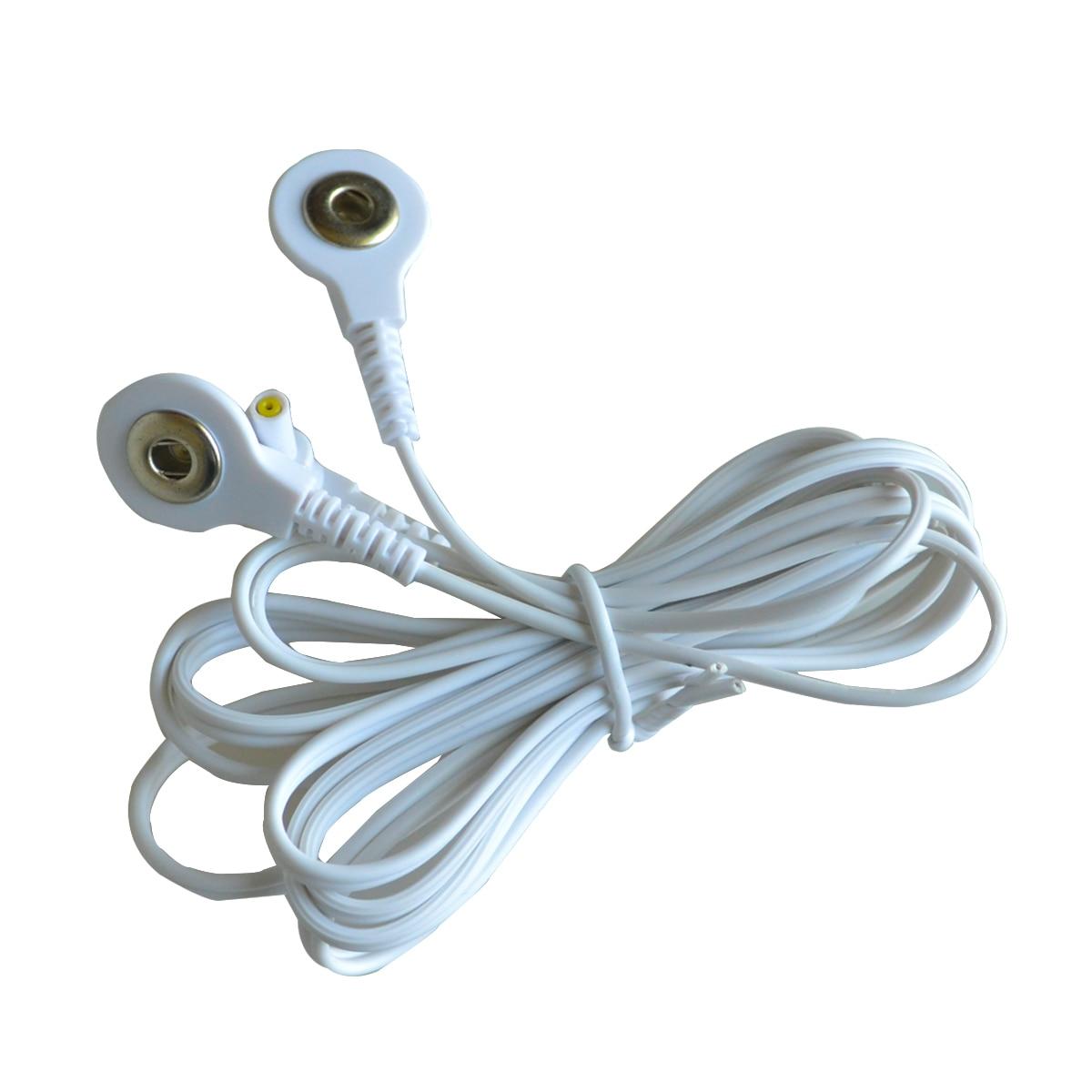 Cables de conexión de repuesto de 50 unids/lote Cables de plomo de electrodo de enchufe de 2,35mm para máquinas de terapia electrónica TENS 7000 y TENS-in Masaje y relajación from Belleza y salud    1