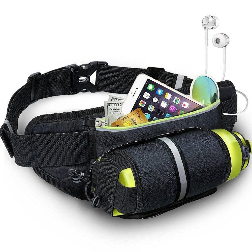 Bolsa da Cintura Cinto de Hidratação Garrafa de Água para Mulheres dos Homens de Fitness Bloco de Fanny Cinto de Dinheiro Trilha Esporte Correndo Jogging Bolsa Gym Ciclismo Bolsas