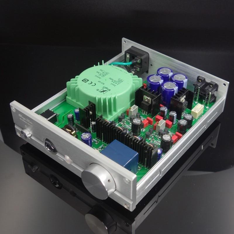 купить copy British Yajun line circuit diagram full discrete pure class A headphone audio amplifier B1 недорого