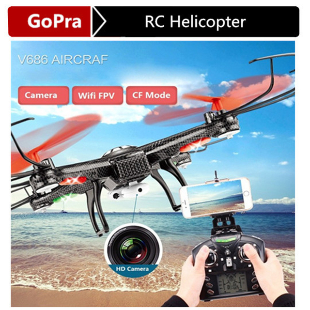 Wltoys V686K wifi fpv headless modus 6-Axis gyro 2.4g 4ch fpv quadcopter wifi ufo rc helicopter drone met camera hd dron vs V686