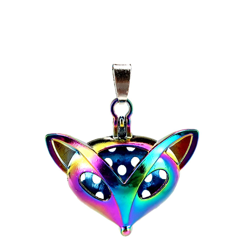 Special Section C128 5pcs/lot Rainbow Color Magnetic Head Of Fox Pearl Beads Cage Locket Pendant Pearl Locket Fairytale Party Necklaces & Pendants Pendants