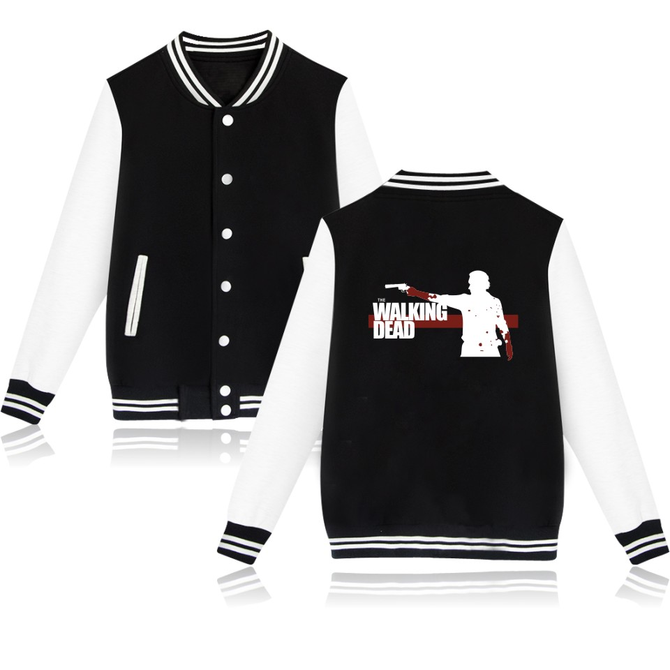 The Walking Dead Zombies Fashion Jackets Autumn Wadded Jacket Female Winter Jacket Women Outerwear Streetwear Clothers In 4XL