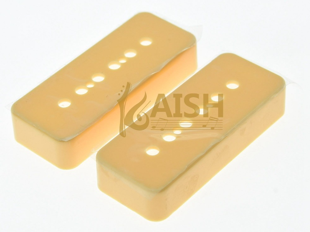 KAISH 2 Pcs Cream LP Soap bar Guitar Pickup Covers P90 Pickup Cover fits LP kaish black p90 high power sound neck