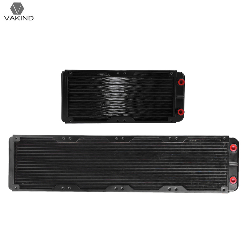 240mm/480mm 18 Tubes G4/1 Aluminum Computer Radiator PC Case Water Cooling Cooler Heat Sink Heat Exchanger CPU GPU Heatsink 120 240 360 480mm water cooling cooler copper radiator heat sink part exchanger cooler cpu heatsink for laptop desktop computer