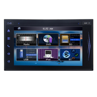 Free Rearview Camera Universal Double 2 Din 6 2 HD In Dash Car DVD Stereo Radio